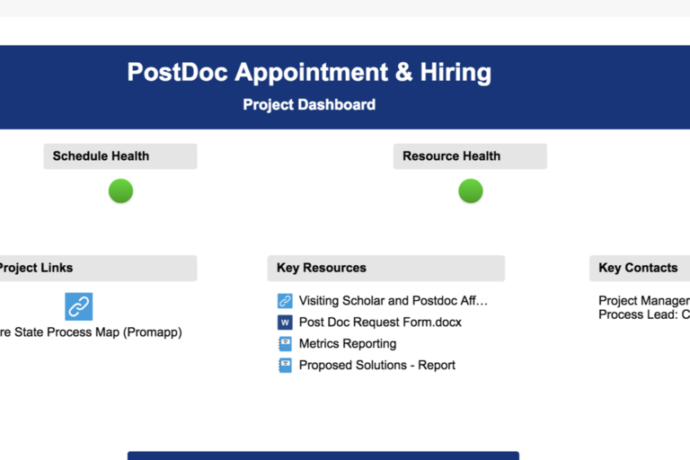 PostDoc Dashboard
